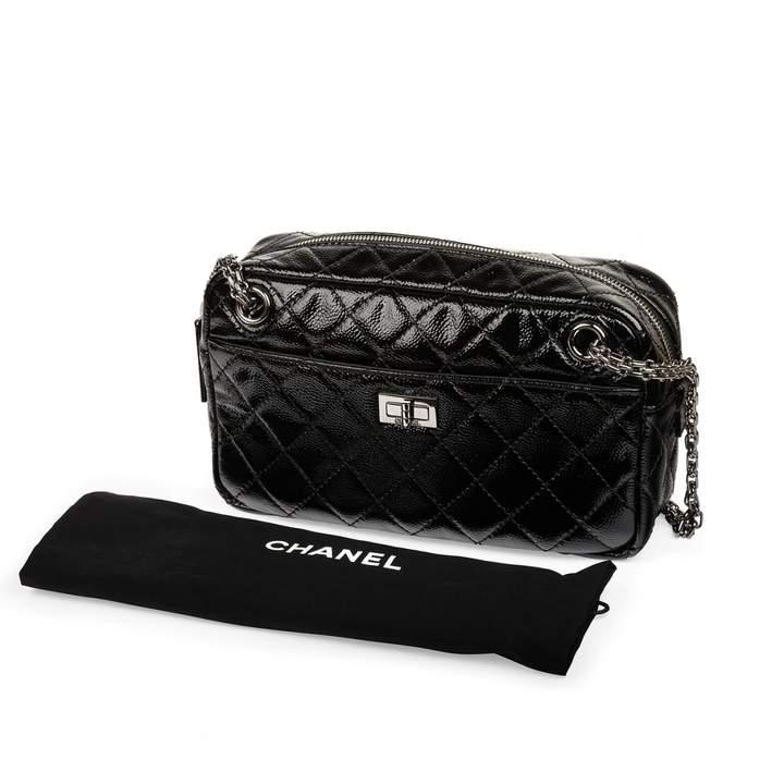 Chanel Camera patent leather handbag