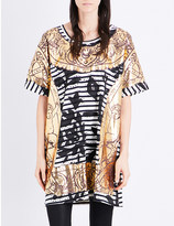 Anglomania Gold-printed oversized cotton T-shirt