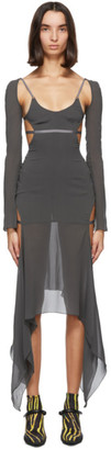 Charlotte Knowles SSENSE Exclusive Grey Vyper Dress