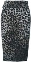 Tom Ford leopard print wrap skirt