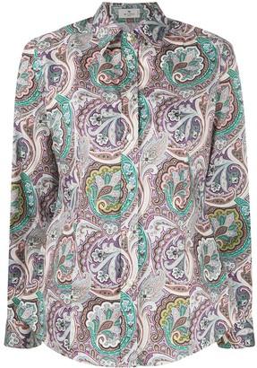 Etro Long-Sleeved Paisley-Print Shirt