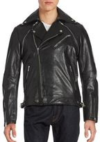 Karl Lagerfeld Adaptable Leather Moto Jacket