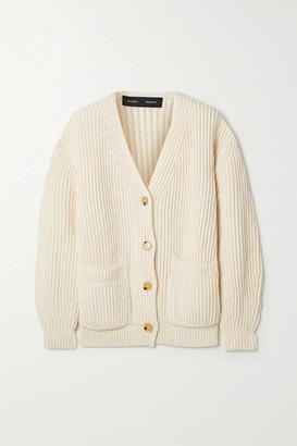 Proenza Schouler Ribbed Cotton Cardigan - Cream