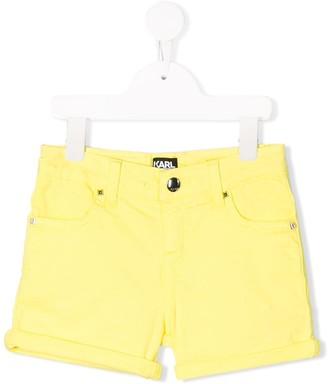 Karl Lagerfeld Paris Turn Up Hem Shorts