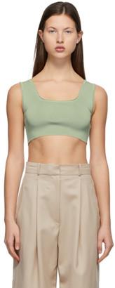 Low Classic Green Knit Crop Tank Top