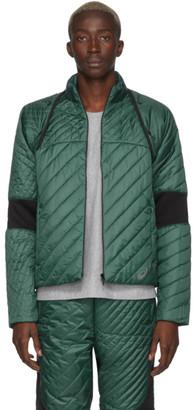 KIKO KOSTADINOV Green and Black Asics Edition Insulated Jacket