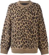 Alexander Wang leopard print sweater - women - Cashmere/Wool - XS