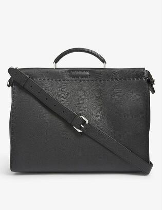 Fendi Peekaboo medium grained-leather tote