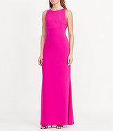 Lauren Ralph Lauren Cutout Back Crepe Gown