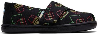 Toms Black Late Night Snacks Glow In The Dark Print Tiny Classics