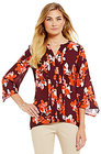 Preston & York-preston york georgia floral knit blouse