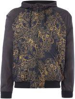 Versace Jeans Front Panel Print Reversable Hoodied Jacket