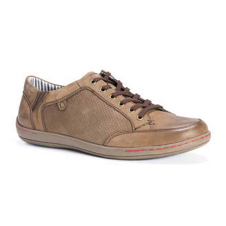 Muk Luks Brodi Mens Leather Lace-Up Shoes