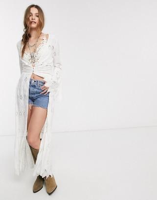 Free People sweetwater broderie kimono-White