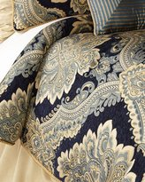 Raymond Waites Queen Navy Chenille 3-Piece Comforter Set