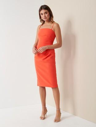 Forever New Lucy Strappy Midi Dress - Orange - 12