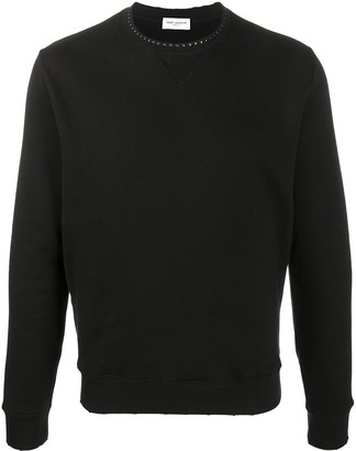 Saint Laurent Stud-Embellished Sweatshirt