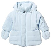 Emile et Rose Pale Blue Padded Coat with Detachable Mittens and Hood