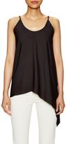 Helmut Lang Silk Side Drape Asymmetrical Top