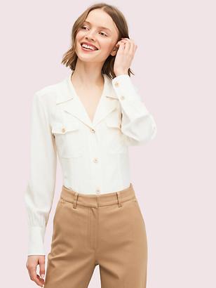 Kate Spade Silk Pocket Shirt