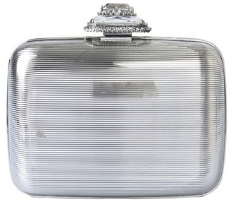 Alexander McQueen Metal Clutch With Jewel