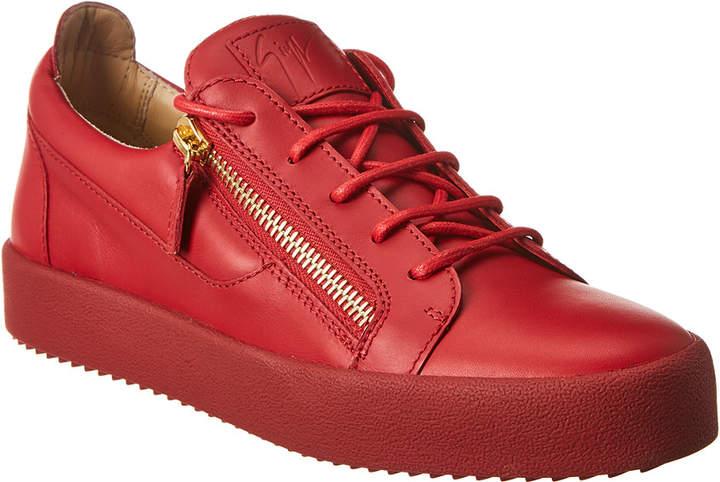 Giuseppe Zanotti Double Zip Leather Sneaker