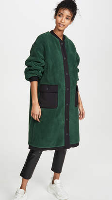 J.o.a. Teddy Fur Long Bomber Jacket