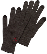 Original Penguin Smart Touch Merino Wool Gloves, One Size, Charcoal