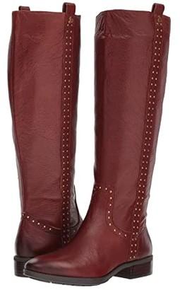 Sam Edelman Prina Leather Tall Boot (Redwood Brown Neymar Leather) Women's Shoes