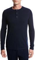 Vince Flat-Back Ribbed Henley T-Shirt