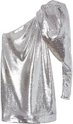 Carolina Herrera Micro-Sequin One-Shoulder Dress