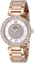 Juicy Couture Women's 1901152 Luxe Couture Analog Display Quartz -Plated Watch