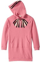 Gucci Kids GG Bow Long Sleeve Dress w/ Hood (Little Kids/Big Kids) (Pink Lady/Blue/Red) Girl's Clothing