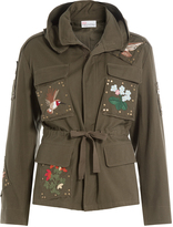 RED Valentino Cotton Jacket with Embroidery
