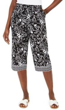 Karen Scott Printed Capri Pull-On Pants, Created for Macy's
