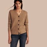 Burberry Check-knit Wool Cashmere Cardigan