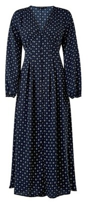 Dorothy Perkins Womens **Only Navy Blue Long Sleeve Swing Dress, Blue