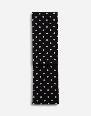 Dolce & Gabbana Silk Scarf With Medium Polka-Dot Print