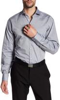 Thomas Dean Paisley Print Long Sleeve Shirt