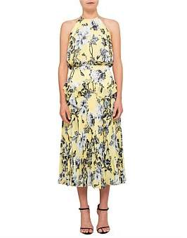 Lover Dhalia Pleat Midi Sleeveless Dress