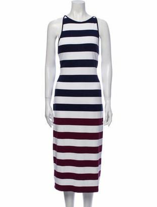 Ted Baker Striped Midi Length Dress w/ Tags Blue