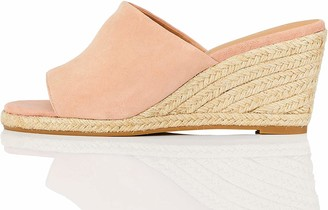 Find. Amazon Brand Mule Leather Espadrille Wedge Sandal