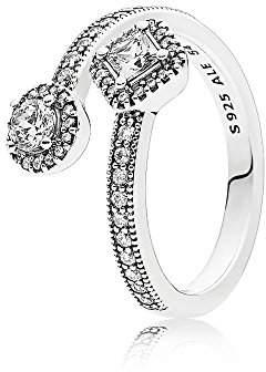 Pandora Women Silver Signet Ring - 191031CZ-56