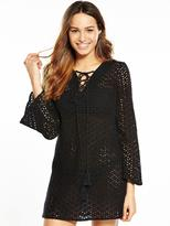 Very Broderie Anglais Lace Up Kaftan
