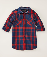 DKNY Dress Blues Tune-Up Long-Sleeve Button-Up - Boys