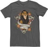 Disney Men's The Lion King Scar With Hyenas Surrounded By Idiots Tee