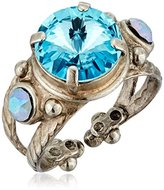 "Sorrelli Teal Textile"" Radiant Round Ring"