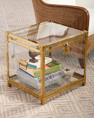 REGINA ANDREW Oceane Acrylic Trunk Side Table