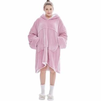 VERROL Oversized Hoodie Blanket Sweatshirt Sherpa Fleece Pullover with Large Front Pocket Super Soft Comfy Long Sleeve TV Blanket for Women Teens Kids