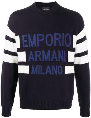 Emporio Armani Logo-Jacquard Sweater